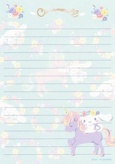 Printable Lined Paper, Printable Scrapbook Paper, Free Printable Stationery, Sanrio Wallpaper, Hello Kitty Wallpaper, Memo Notepad, Cute Notes, Stationery Paper, Kawaii Drawings