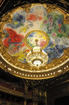 Opera National de Paris   painted by Mark Chagall