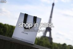 Hopefully One Day! Shop in Paris!