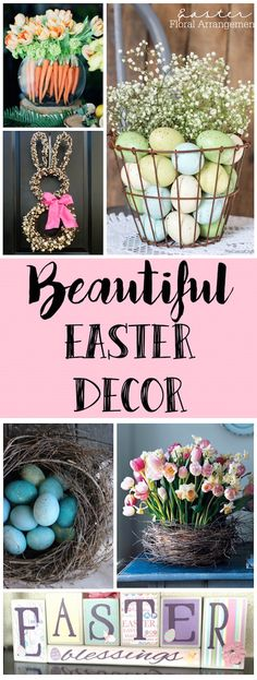 Easter Decorations That Don't Involve Rabbits is part of Holiday decor Spring - I don't have anything against rabbits or the Easter bunny but I'm ready to mix up my Easter decorations beyond the bunny this year! Do It Yourself Organization, Diy Ostern, Spring Crafts, Easter Baskets, Easter Crafts, Easter Decor, Easter Ideas, Easter Recipes, Easter Bunny