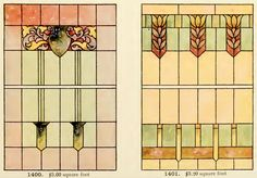 Leaded Glass from International Art Glass Catalogue by National Ornamental Glass Manufacturers Association of the United States and Canada, published in Stained Glass Church, Stained Glass Crafts, Stained Glass Designs, Stained Glass Patterns, Stained Glass Windows, Art Nouveau, Art Deco, Construction Drawings, Leaded Glass