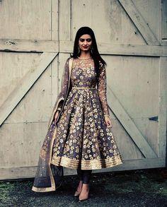 Sequins Flora 💎 Outfit details: Anarkali: Net with pre embroidered sequins Pajami: Lycra Dupatta: Net with pre embroidered sequins This…