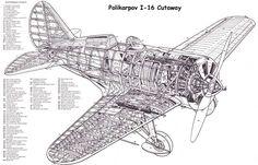 Polikarpov I-16 Cutaway