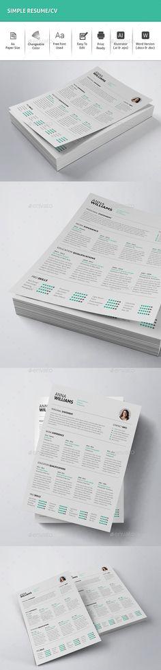 Resume CV Resume cv, Cv ideas and Simple resume template - is a cv a resume