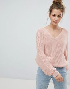 Pull&Bear | Pull&Bear V Neck Oversized Sweater