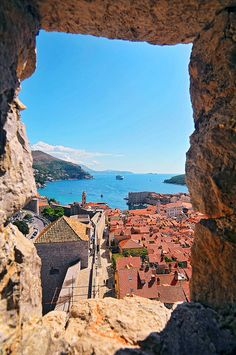 Dubrovnik, Croatia! Been here and looked out the old city walls!! Just like this picture!! AMAZING! One of my fav places by far!!