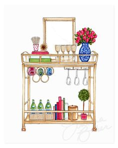 If you have interest in households then you must know about gold bar cart. There are some points to help you in finding the best bar cart from the market. Diy Bar Cart, Gold Bar Cart, Bar Cart Styling, Bar Cart Decor, Buffets, Petits Bars, Outside Bars, Home Bar Decor, Pub Set