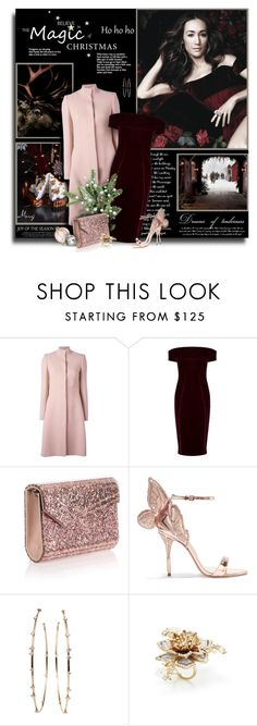 """The Night Before Christmas"" by thewondersoffashion ❤ liked on Polyvore featuring Alexander McQueen, Coast, Jimmy Choo, Sophia Webster, Mattia Cielo and Marchesa"