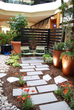 Garden Designer, Dustin Gimbel's garden display at the Southern California Garden Show - Title: Simple | Modern | Tranquil