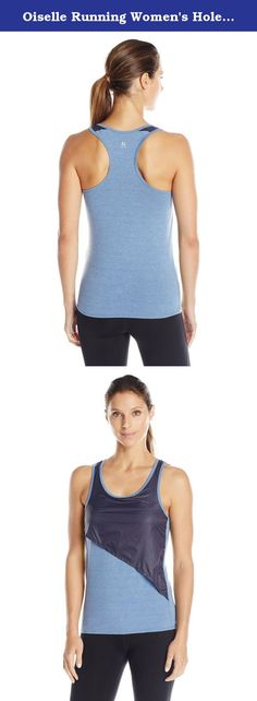 Oiselle Running Women's Holepunch Tank Top, Podium Blue, Size 2. The holepunch tank top is part of oiselle's holepunch collection using a retro looking mesh layer over a 4T blend racerback tank. The tank will remind you of a classic tank with updated styling.