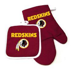 Washington Redskins NFL Oven Mitt and Pot Holder Set 1