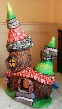 Dwarven mushroom house 1, frontal view