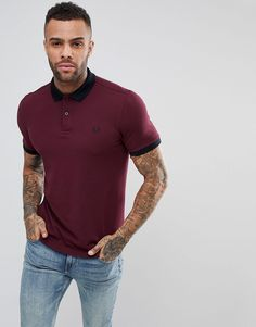 Shop the latest Fred Perry Slim Fit Matt Tipped Pique Polo Shirt In Burgundy trends with ASOS! Classy Casual Outfits For Guys, Men Casual, Casual Jeans, Fred Perry, Red Polo Shirt Outfit, Asos, Slim Fit Polo Shirts, Dapper Men, Pique Polo Shirt