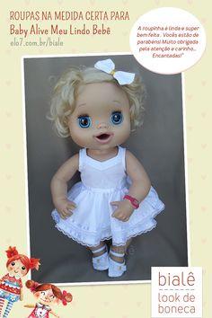 578e3691f4 Roupas para Baby Alive  na medida certa para a boneca Meu lindo Bebê.  Confira!
