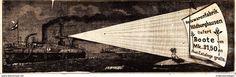 Werbung - Original-Werbung/ Anzeige 1901 - HOLZWARENFABRIK HILDBURGHAUSEN / MOTIV BOOTE - ca. 180 x 55 mm
