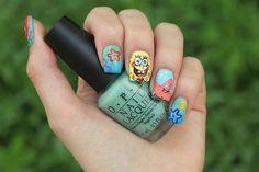 Sponge bob nails!:D