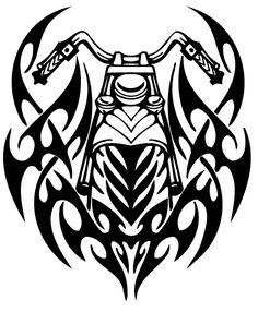 Tribal Motor Bike Tattoo Design For Men