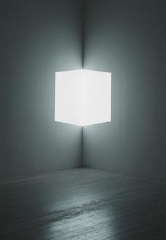 "James Turrell, ""Afrum (White),"" 1966. Cross Corner Projection."