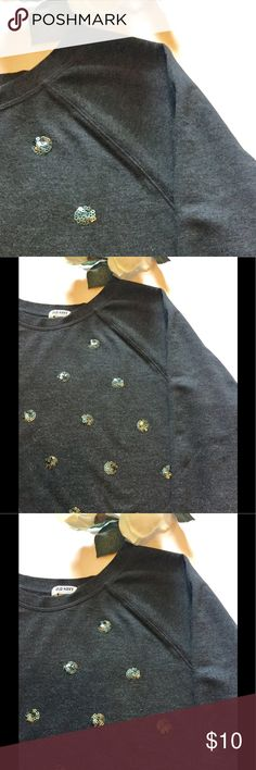 ⚜️Old Navy Sequin Sweatshirt XL⚜️ Old Navy Sequin sweatshirt in charcoal grey-xl⚜️Bust 24 inches/25 inches length/28 inches sleeve⚜️All measurements are approximations⚜️Sweatshirt has some peeling, no rips and no stains Old Navy Tops Sweatshirts & Hoodies
