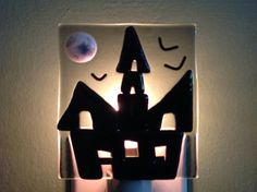 Fused Glass Haunted House Night Light by LaGlasSea on Etsy