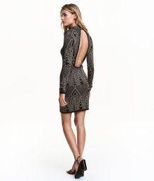 Glittery Dress | Black/patterned | Ladies | H&M US