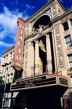 Rialto Square Theatre, Awesome theatre in Joliet.   Beautiful marble and staircases ans statues inside.