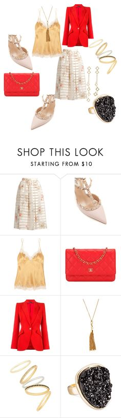 """Classy Lady"" by teez-fashionxc on Polyvore featuring Fendi, Valentino, Carine Gilson, Chanel, Alexander McQueen, Yves Saint Laurent, Madewell, SUGARFIX by BaubleBar and Arme De L'Amour"