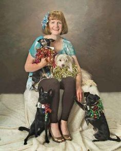 "This is a 100% real picture of you in the future.. You are a crazy dog person if your picture you have professionally made is only of you and your ""babies!"""