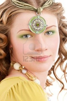 Young fairy godmother with a tiara Stock Photo