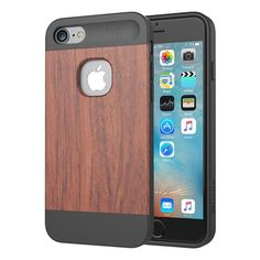 Slicoo Nature Series Light Year Wood  Bamboo Slim Covering Case for iPhone 7 [Lifetime Warranty] Mobile Phone Protective Cover
