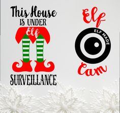 Elf Cam This house under elf surveillance SVG, dxf, pdf Cuttable file Santa Camera, Christmas, ornament, Elf Studio 3 Camera png by TheLazyIdesigns on Etsy