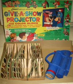 """""""Give a show!  Don't you know!  It's Kenner's Give A Show Projector!""""  That was the jingle.  My friend Donna had this and I would spend the night and we would watch shows on the ceiling.  So fun."""