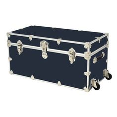 Rhino Trunk and Case Slate Wheeled Wood Storage Trunk at Lowe's. The Rhino 69 Gallon Jumbo Armor Slate Storage Trunk with wheels is American made and is constructed from the highest quality components. This trunk weighs Storage Trunk, Wood Storage, Storage Organization, Storage Chest, Seat Storage, Toy Trunk, Hardwood Plywood, Strong Hand, Black Wheels