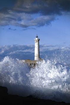 Lighthouse, Augusta, Mediterranean Sea by Fabrizio Granata