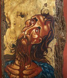 """Byzantine icon of """"Saint Ioannis Prodromos"""" Byzantine Icons, Orthodox Icons, Great Love, Saints, Unique, Painting, Etsy, Art, Art Background"""