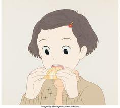 Only Yesterday Taeko Okajima Production Cel (Studio Ghibli, 1991) Only Yesterday, Studio Ghibli, Auction, Anime, Art, Art Background, Kunst, Cartoon Movies, Anime Music