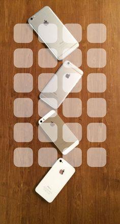 » iPhone4s, iPhone5s, iPhone6, iPhone6Plus, Apple logo wooden board brown shelfwallpaper.sc iPhone6