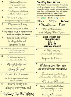 If you ever get the chance to change the tacky sayings on cards you great ideas for when youre stuck on what to write in christmas cards m4hsunfo
