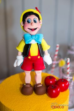 Pinocchio Birthday Party cake!  See more party ideas at CatchMyParty.com!