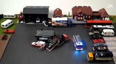 1:87 Remote bus and fire engine - model railroad