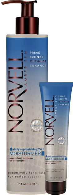 """The secret to maintaining flawless, long-lasting results can be found in Norvell's Daily Replenish 24hr Moisturizer"" @Kris Quinn Sunless"