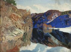 Josef Vydra (Czech, 1884-1959), Mountain Lake, 1931. Oil on canvas