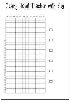 Annual Habit Tracker - Keep track of a habit throughout the year Free Printable Annual Habit Tracker - Keep track of a habit throughout the year,Free Printable Annual Habit Tracker - Keep track of a habit througho. Bullet Journal Habit Tracker Printable, Bullet Journal Free Printables, Bullet Journal Yearly, Bullet Journal Mood, Bullet Journal Ideas Pages, Bujo, Tracker Free, Passion Planner, Happy Planner