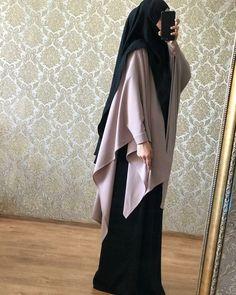 Modesty Fashion, Abaya Fashion, Muslim Fashion, Kimono Fashion, Fashion Dresses, Hijab Fashion Inspiration, Mode Inspiration, Hijabs, Muslimah Clothing