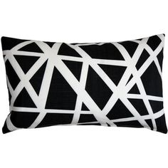 Pillow Decor - Bird's Nest Indoor / Outdoor Throw Pillow (Rectangle - N/A - - Black)(Polyester, Geometric) Black Throw Pillows, Velvet Pillows, Toss Pillows, Throw Pillow Sets, Outdoor Throw Pillows, Lumbar Pillow, Accent Pillows, How To Clean Pillows