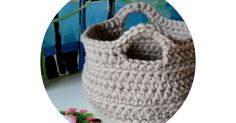 I'm finally posting the pattern for the crocheted basket. Thank you so much for all of the comments and emails. I hope you lik...