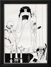 ' Enter Herodias ' - Aubrey Beardsley 's illustration for 'salome ' by Oscar Wilde Giclée-tryk af Aubrey Beardsley på AllPosters.dk