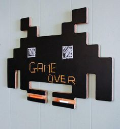Space Invader Chalk Board
