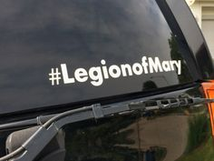 Hash-tagLegionofMary Car Cling by ChristianClings on Etsy