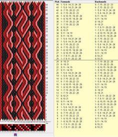 28 tarjetas, 4 colores, repite cada 24 movimientos // sed_252 diseñado en GTT༺❁